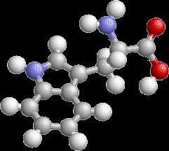 молекула с протеин в сив, син и червен нюанс, който е добра основа на мускулната маса.