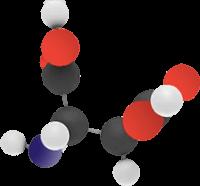молекула с аминокиселинна структура символизираща Д – АСПАРАГИНОВАта КИСЕЛИНА, която се съдържа в нашите хапчета за повишаване на тестостерона.