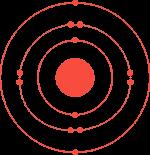 Атомна структура на магнезий в червено, символизираща магнезия, който се съдържа в нашите хапчета за увеличаване на мускулната маса и тестостерона.